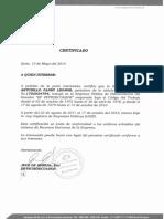 Certificado de Modalidad Contratada