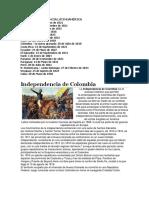 Fechas Independencia Latinoamérica