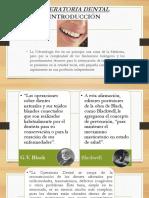Introducción a La Operatoria Dental