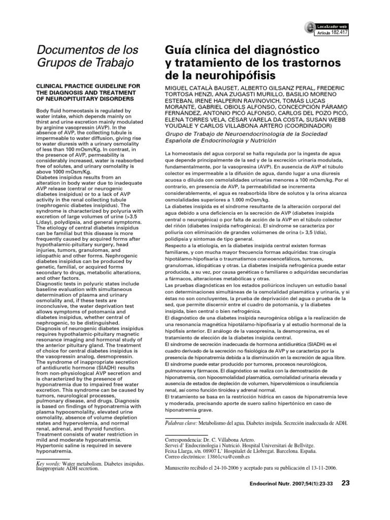 diurético tiazidici nel diabetes insipido