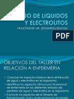 Manejo de Liquidos y Electrolitos