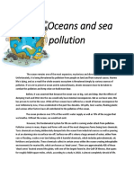 Oceans and Sea Pollution