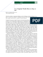 US Hegemony in a Unipolar World