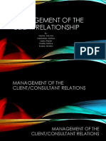 Management of the Client Relationship