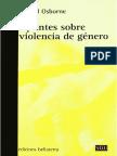 Raquel Osborne - Apuntes Sobre Violencia de Genero