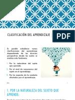 Clasificación Del Aprendizaje