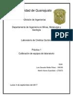 Práctica #1 - Calibración Equipos Volumétricos