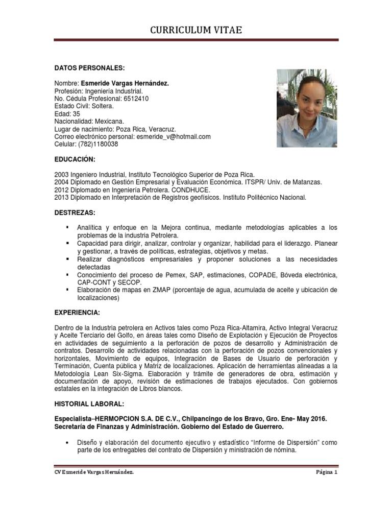 Hermosa Currículum Vitae Especialista Motivo - Ejemplo De Colección ...