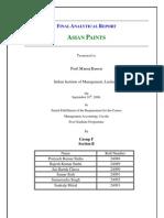 Asian Paints Financial Statement Analysis