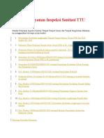 Standar Pelayanan Inspeksi Sanitasi TTU Dan TPM