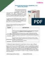 Configuración Equipo Elix Essential 5 UV (agua tipo II).doc