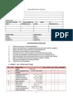 School Health Facility Checklist