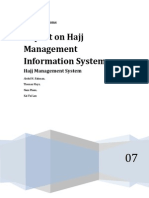 Report on Hajj Management Information System