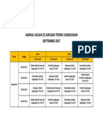Jadwal Kuliah s2 Sept 2017