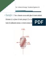 Aula 06 - Exercicios Tensoes Principais e de Cisalhamento Maximo.pdf
