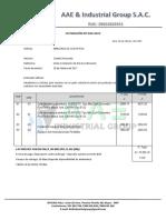 Cotizacion Nº 020-2017