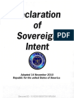 Declaration of Sovereign Intent- Proclamation of Claim and Interest