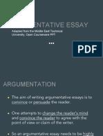 argumentative essay powerpoint ppt