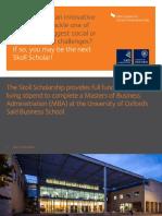Skoll Scholarship Brochure