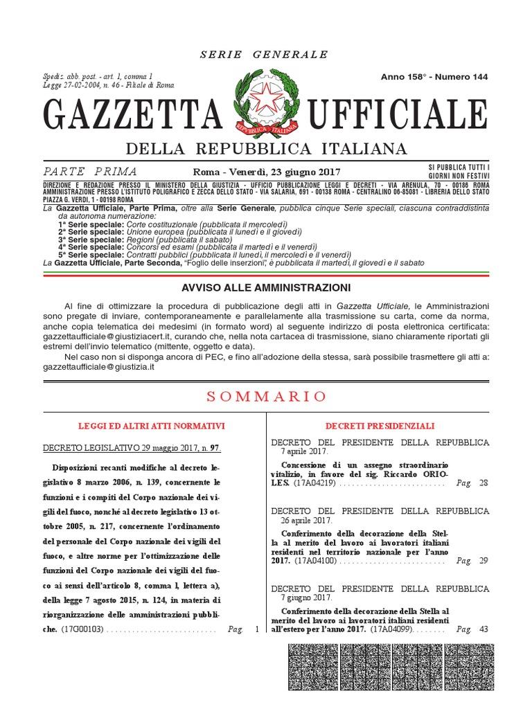 Salute Vita Kleinostheim gazzetta ufficiale giugno 2017