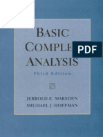 Basic Complex Analysis - Marsden and Hoffman