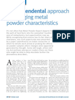 Trivedi Effect - A transcendental approach to changing metal powder characteristics