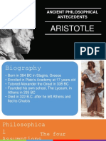 Development of Psychological Thought - Ancient Philosophy - Aristotle