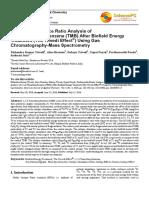 Trivedi Effect - Isotopic Abundance Ratio Analysis of 1,2,3-Trimethoxybenzene (TMB) After Biofield Energy Treatment (The Trivedi Effect®) Using Gas Chromatography-Mass Spectrometry