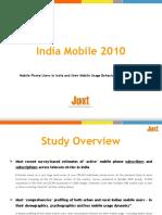 Snapshot of Juxt India Mobile 2010 Study - Press