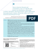 Trivedi Effect - A comprehensive physicochemical, thermal, and spectroscopic characterization of zinc (II) chloride using X-ray diffraction, particle size distribution, differential scanning calorimetry, thermogravimetric analysis/differential thermogravimetric analysis, ultraviolet-visible, and Fourier transform-infrared spectroscopy