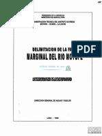 DELIMITACIÓN DE LA FAJA MARGINAL DEL RIO MOTUPE