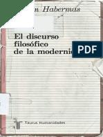 Habermas , El Discurso Filosofico de La Modernidad
