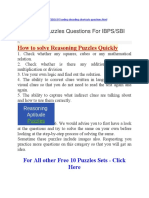 Reasoning Puzzles Questions For IBPS.docx