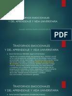 Trastornos Emocionales y Del Aprendizaje y Vida Universitaria