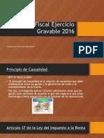 Cierre Fiscal Gravable 2016
