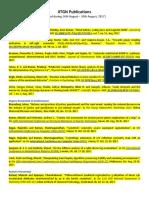 Publication List August 2017