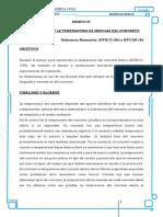 Astm1064 temperatura Del Concreto