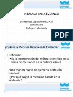 FARMACOTERAPEUTICA Medicina Basada en Evidencias