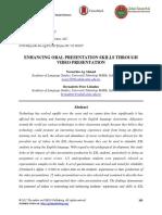 Enhancing Oral Presentation Skills Through Video Presentation