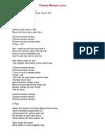 Channe Mereya Lyrics