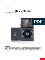Fiio X3 (2nd Gen) Complete User Manual