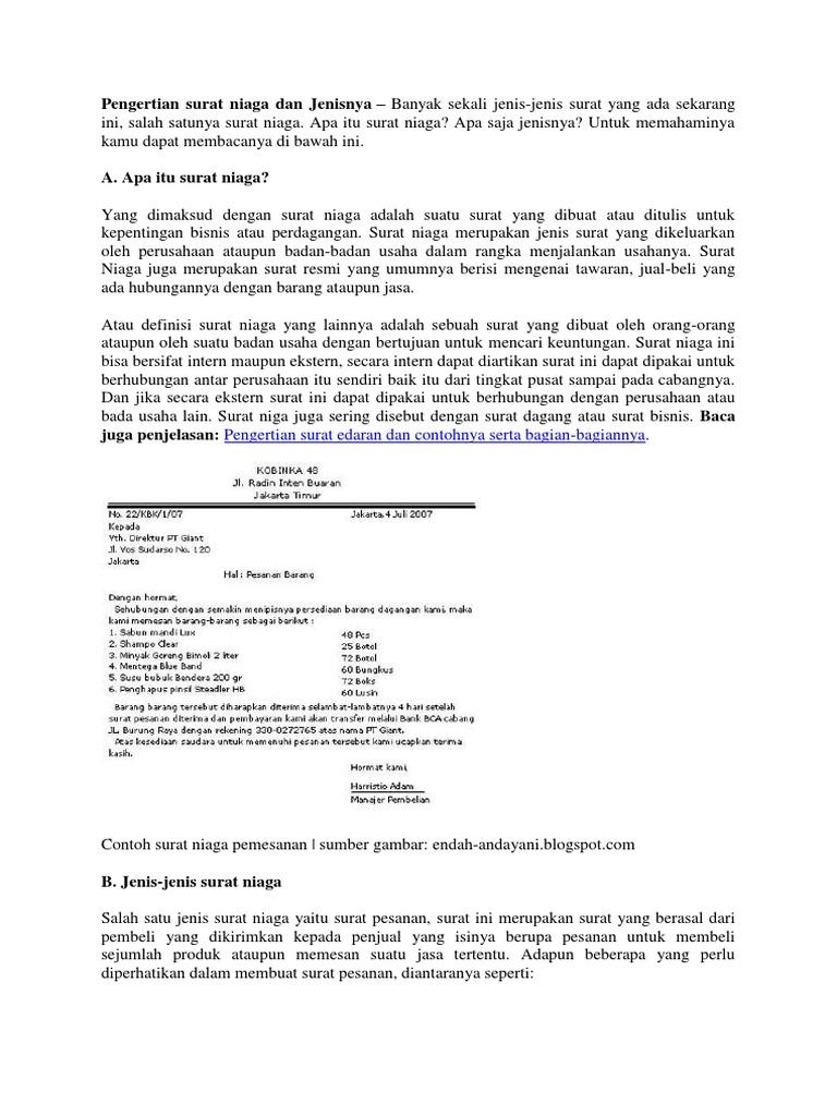 Materi Surat Niagadocx