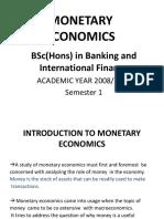 Monetary Eco Bsc 2