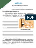 AULA PRATICA 1 - Destilacao Por Arraste de Vapor Farmacia e Biomedicina