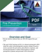 Fire Prevention in the Perioperative Setting