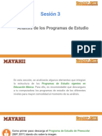 M1. Sesión 3 Análisis de Los Programas de Estudio