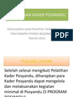 Pembinaan Kader Pos Yandu