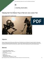Wayang Kulit_ the Shadow Plays of Bali and Java Lesson Plan _ Making Visual Narratives