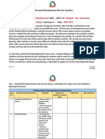 professional development plan for teachers