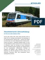 388.42 45 78 - STADLER (2007), Dieselelektrischer Zahnradtriebzug Für Ferrovia Della Calabria (FdC)